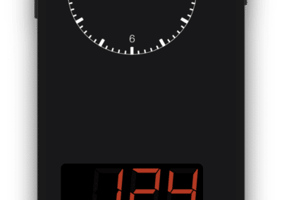 Dash. - Speedometer, Odometer and Trip Computer - Portrait View with Clock and Speedometer Showing