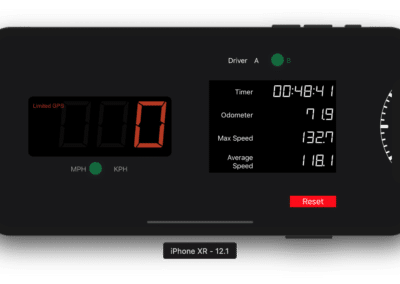 Dash. Speedometer, Odometer and Trip Computer - Landscape View